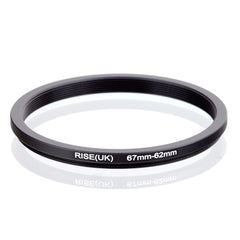 67mm-62mm 67-62mm 67 to 62 Step down Ring Filter Adapter black