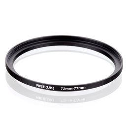 72mm-77mm 72-77mm 72 to 77 Step Up Ring Filter Adapter black