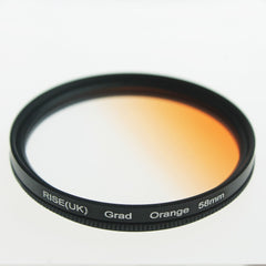 58mm Rotating Grad Graduated Orange Color Lens Filter