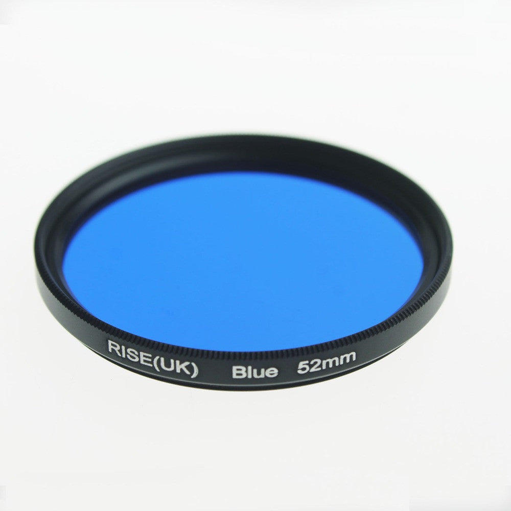 52 mm full color Blue lens Filter for Nikon D3100 D3200 D5100 SLR Camera lens