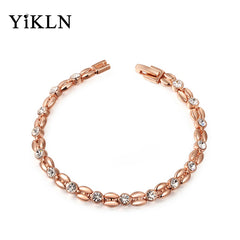 Austrian Crystal Wheat-shaped Rose Gold Plated Bracelet & Bangle