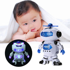Smart Space Rotating Dancing Robot With Music Light