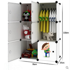 Simple children's baby wardrobe lockers finishing cabinet plastic drawer cabinets wardrobe
