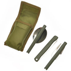 Portable Outdoor Folding Stainless Steel Tableware Knife Fork Spoon Sets