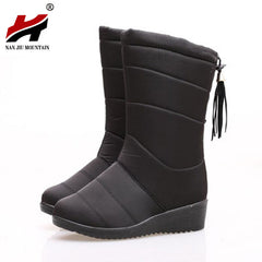 Waterproof Tassel Ankle Down Warm Fur Boots