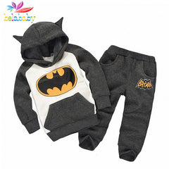 Batman Cartoon Long Sleeve T-shirt+Pant Winter Clothing Set