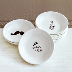 Mini Ceramic Kitchen Porcelain Salad & Cake Dish 3PCS 4 Inch