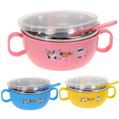 Cartoon Stainless Steel Heat Insulation Food Storage / Container