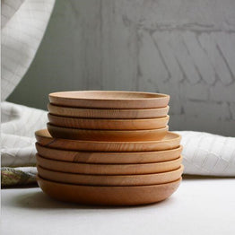 Wooden Japanese round shape dinnerware table tools