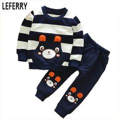 Bear Character Design Clothing Set for Boys