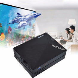 GM60A Built-in Miracast Airplay Mini LCD Projector 800 x 480 Resolution 1080P HD Video Projector