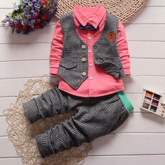 Gentleman Vest Clothing Set  with Tie+Coat