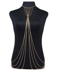 Golden Erotic Body Chain layered body jewelry for Women