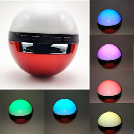 Wireless Stereo Bluetooth Mini Speaker MP3 MP4 Player With Colorful Night LED Light