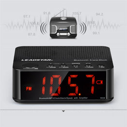 Portable Bluetooth Wireless Speaker Hands-free Calls Speaker with Alarm Clock