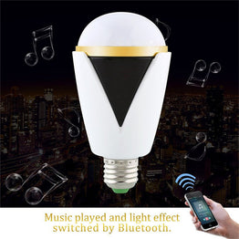 Smart Wireless Bluetooth 4.0 Speaker  5W E27 LED Light Bulb with Control APP