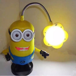 Mini Portable Minion Bluetooth Speaker with Table Lamp