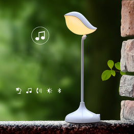 3D Bird Shape Bluetooth Speaker Hands-Free Mic with Desk Lamp LED