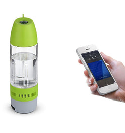 Water Bottle Bluetooth Speaker Portable with built in Cups and Compass