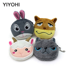 Crazy Animals Cute Stylish Zipper Coin Purse for Women.