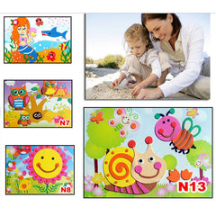 DIY 3D Puzzle Sticker Self-Adhesive Education Toys 18.5cm*26cm