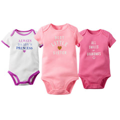 3Pcs/Lot Baby Bodysuits Rompers