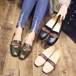 Casual Peas Lace Up Comfortable Fashion Loafers for Women