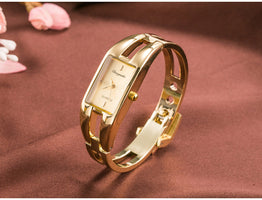Stainless steel Quartz Fashion brand luxury gold bracelet Watch