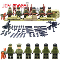 Soldier Commando Brothers Marine Corps  Battlefield Building Blocks