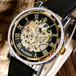 Skeleton WristWatch Stainless steel Luxury Mechanical Watch for Man