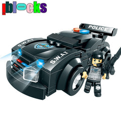 Police Military SWAT Car Bricks Blocks Educational Toys