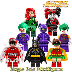 Joker Poison Ivy Batman Robin Harley Quinn Catwoman DIY Building Blocks