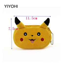 Pokemon Go Cartoon Plush Coin Purse with Zip for Kids
