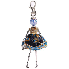 Baby doll cute princess fashion keychain for women