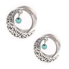 Stainelss steel Hollow Moon Bead piercing body jewelry