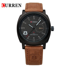 Curren 8139 Men's Leather Strap Sport Watch