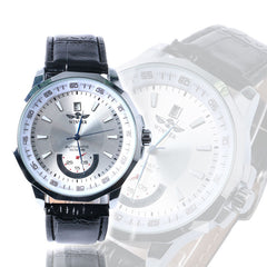 Fashionable Black & White Casual Genuine Luxury Automatic Self Wind Men Watch