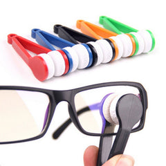 2 Pc's Eye glasses handle brush sunglasses cleaner home use spectacles clean brusher cleaning brush