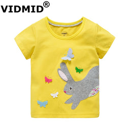 Short Sleeves 100% cotton T-shirt for baby girl