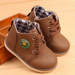 Fashion Breathable Leather Boots for Kids