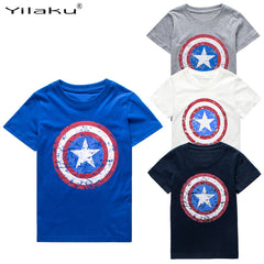 Captain America Cartoon Tops / Tees for Baby Boy