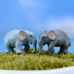 2PCS artificial elephant fairy garden miniatures for home garden decoration