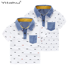 Short Sleeve Printed Polo T Shirt for Baby Boy