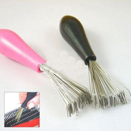 Embeded Mini & Durable Hair Comb Cleaner Brush Tool