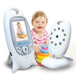 2.4 GHz WireleSs Digital Video Baby Monitor Audio Night Vision Music Temperature Display