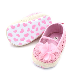 Anti-slip Breathable Flower Pierced knitted Slip-on for Baby