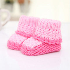 Cotton Knit Mixed Color Soft Winter Shoes for Baby Girl / Boy