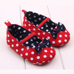 Anti Slip Bow Design Princess Baby Shoes with Soft Bottom