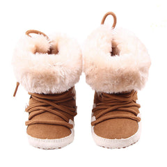 Soft Sole Crib Warm Winter Toddler Shoes for Girl Baby