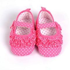 Pink  Fabric Newborn Baby Girl Shoes